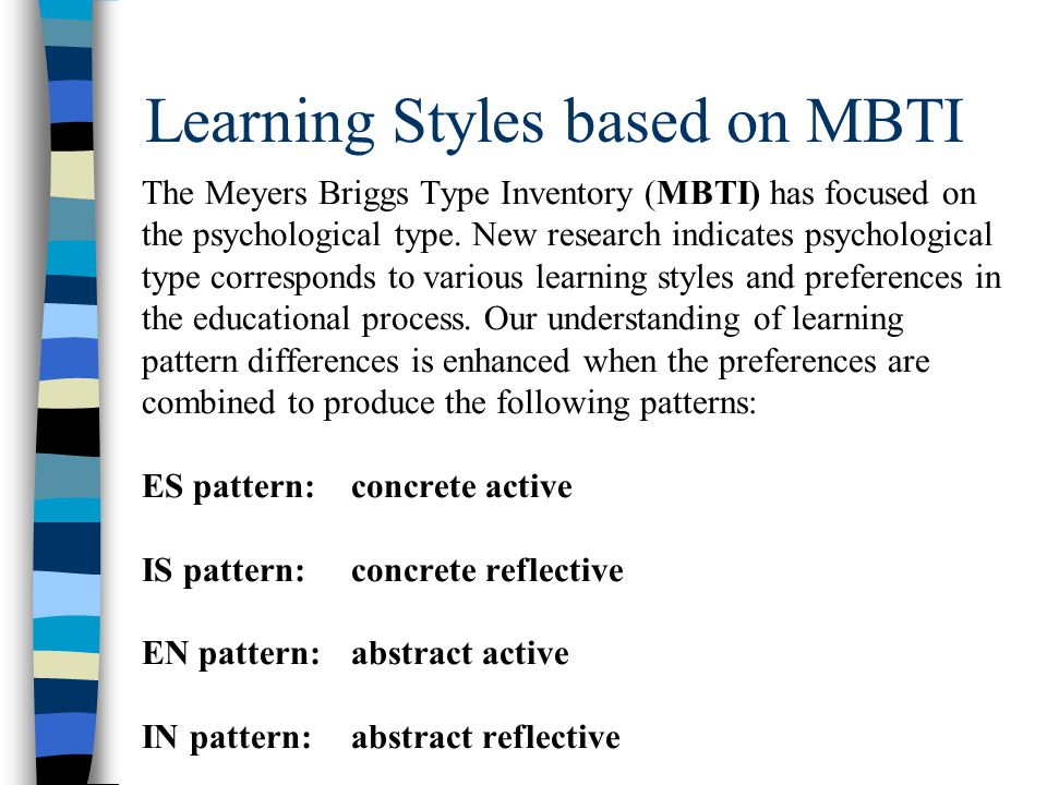 Learning Styles based on MBTI