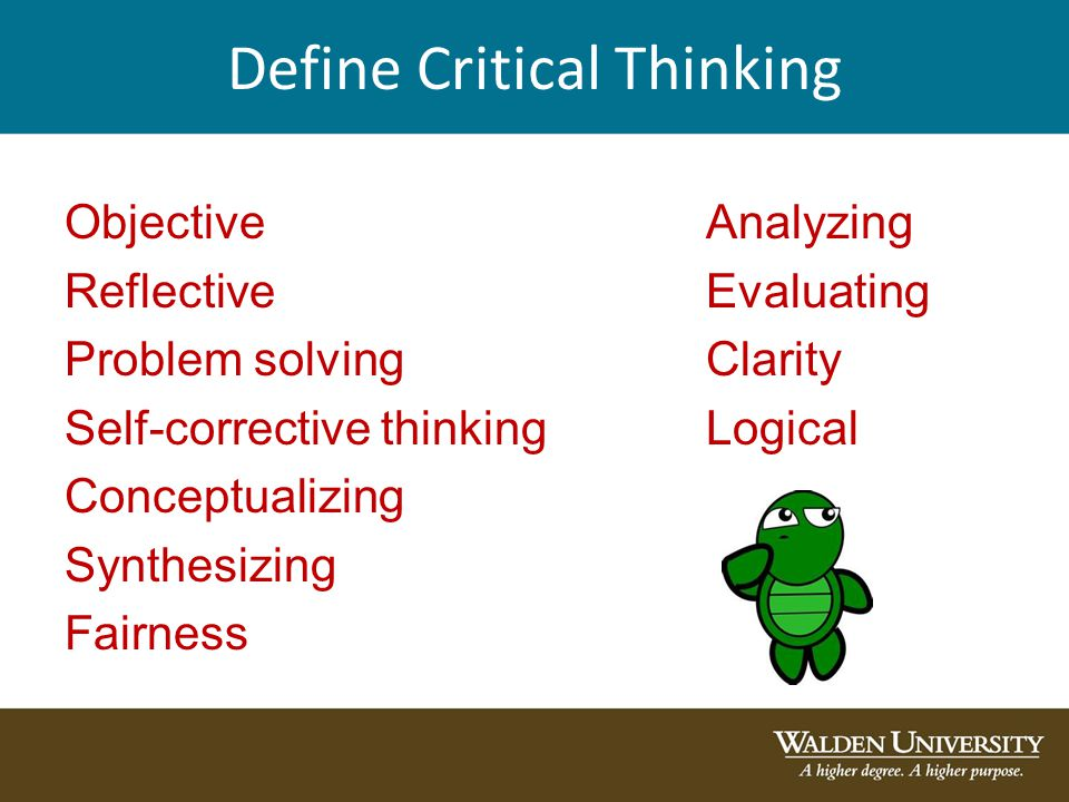 critical thinking and analysis a model for written assignments