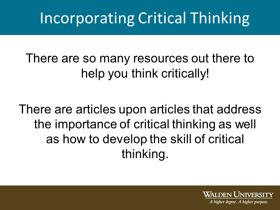 critical thinking articles
