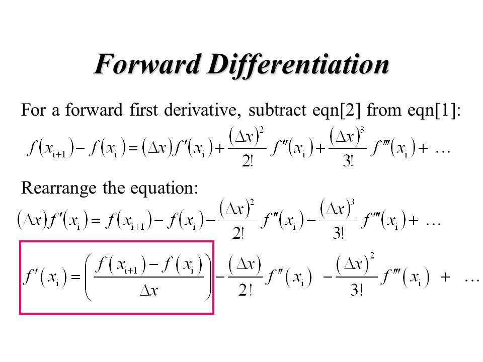 Forward Differentiation