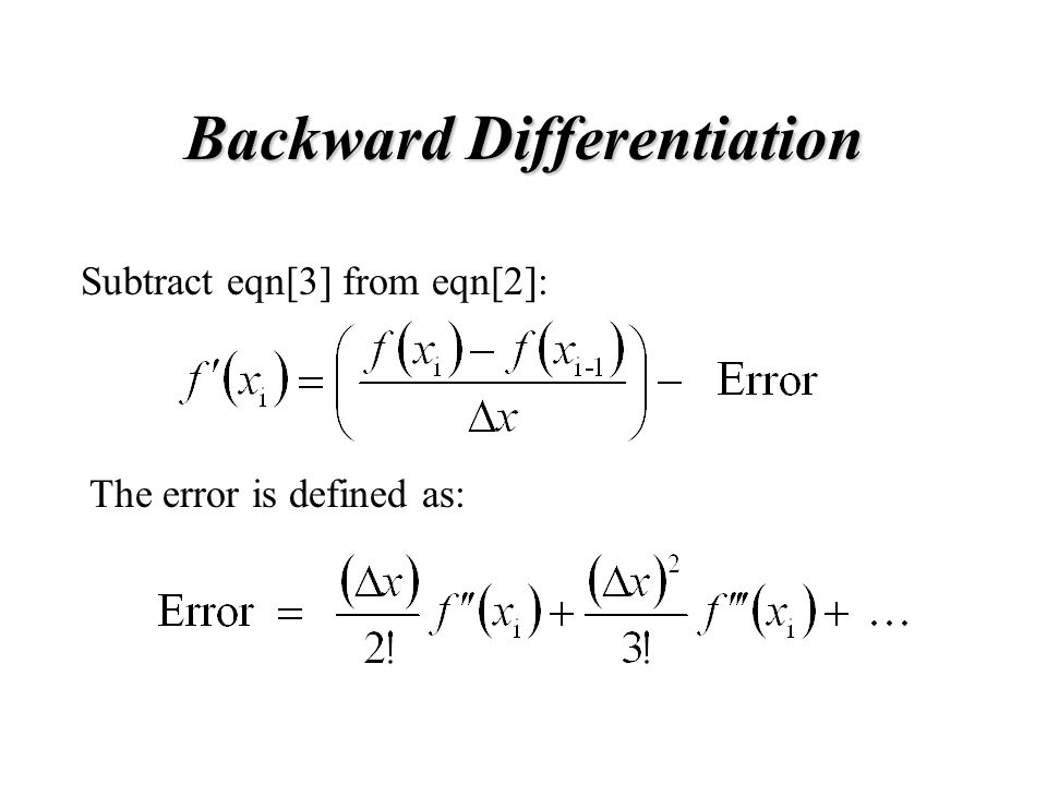 Backward Differentiation