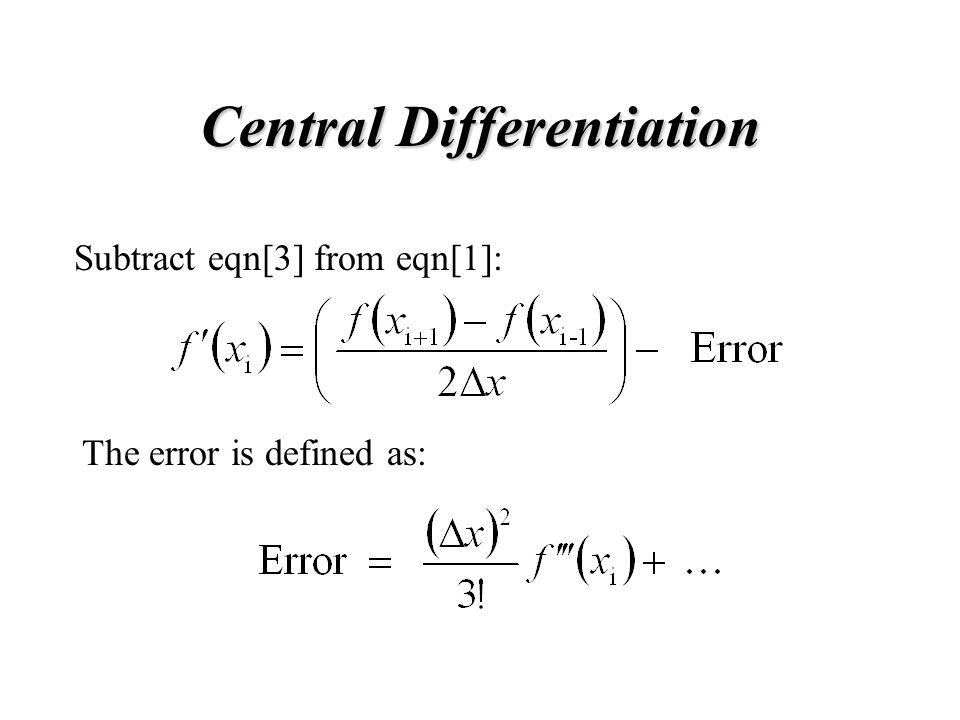 Central Differentiation