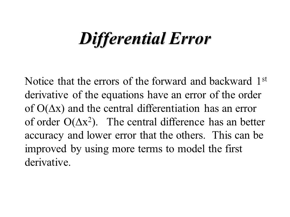 Differential Error