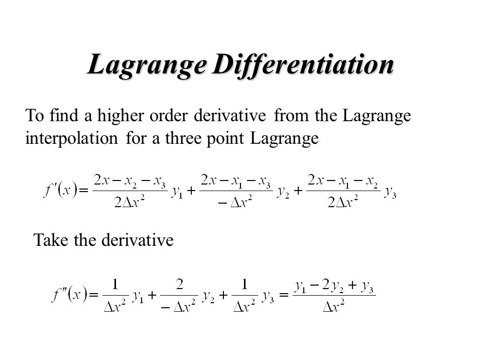 Lagrange Differentiation