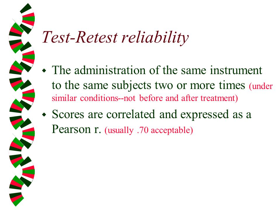 Test-Retest reliability