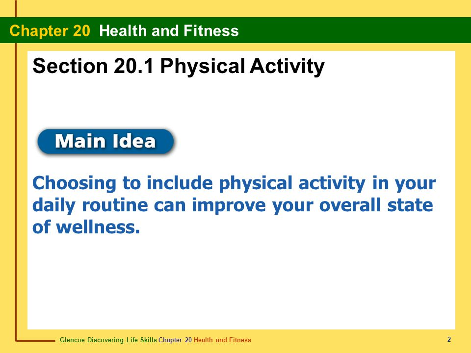 Section 20.1 Physical Activity