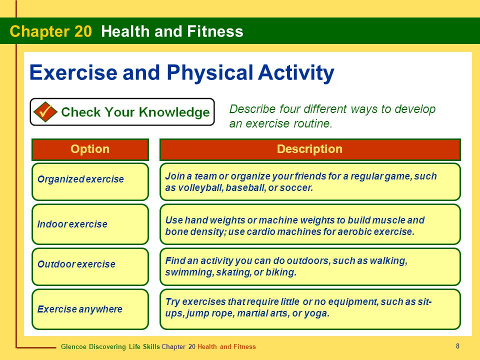 Exercise and Physical Activity