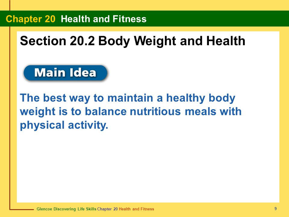 Section 20.2 Body Weight and Health