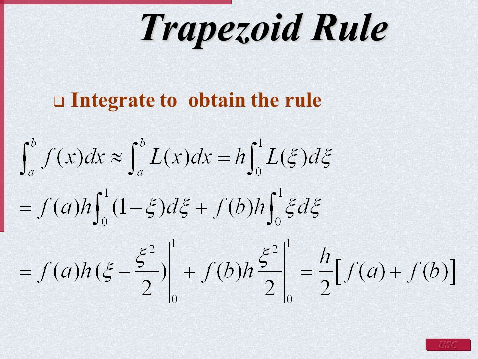 how to use trapezoidal rule in mathematica