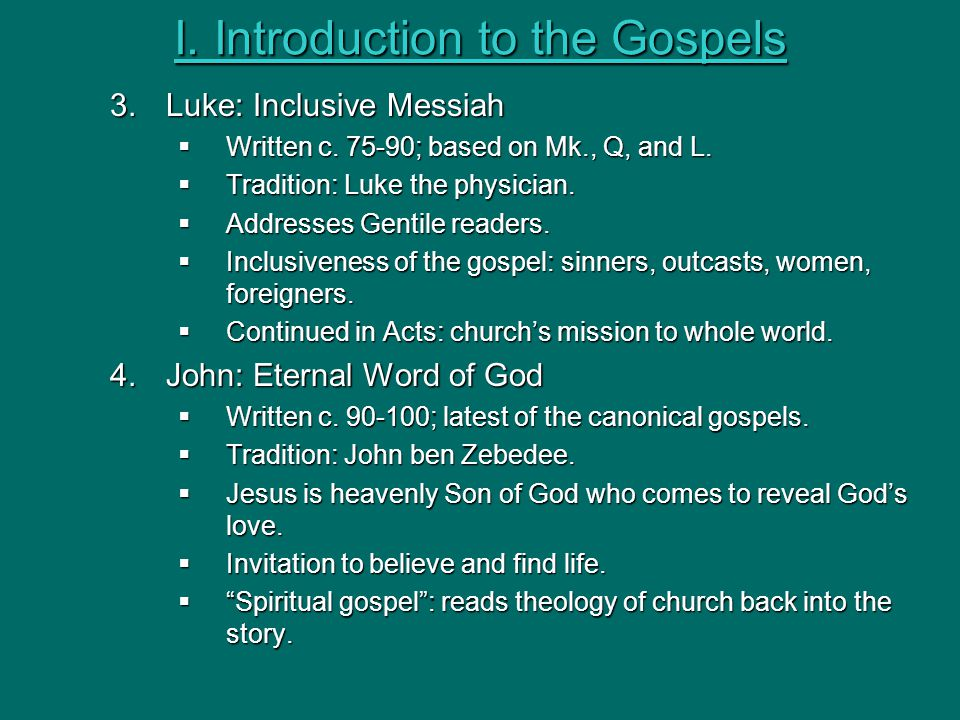 an introduction to the life of luke a gentile Forasmuch as many have taken in hand  can you summarize the gospel of luke what is the gospel of luke all about the church begins in jerusalem introductory events an introduction to the life of luke a gentile promise of the holy spirit (1:1-5) luke begins this part of his history by reminding readers of his previous book.
