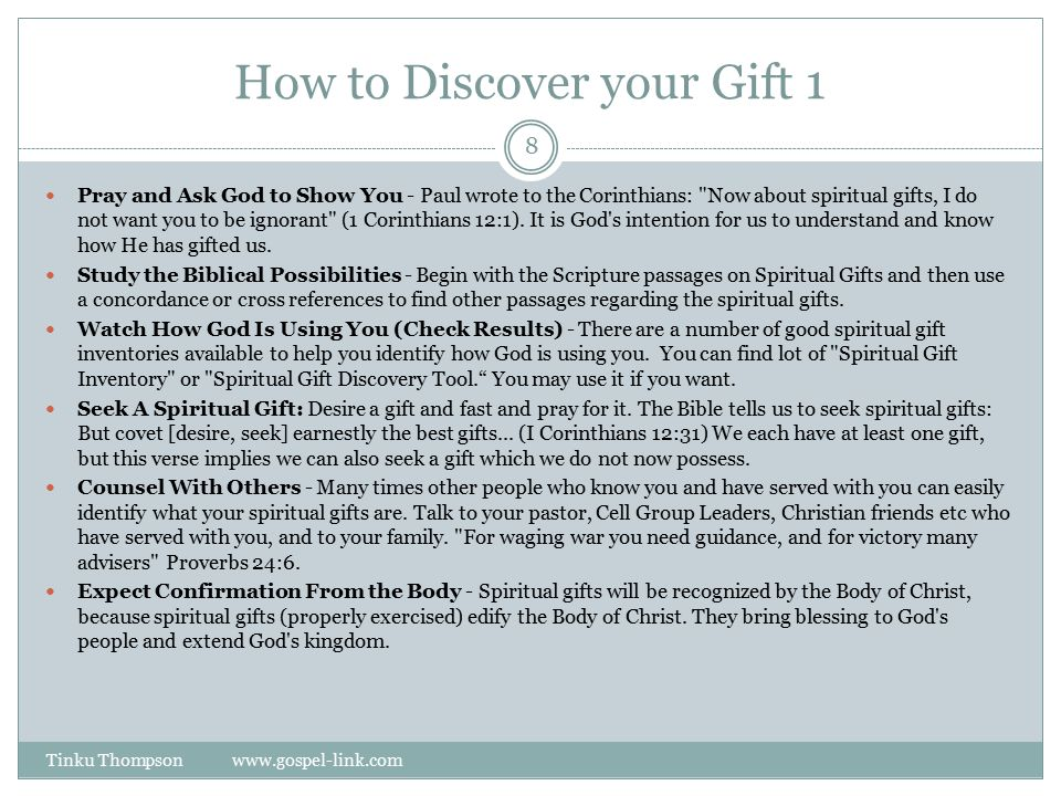 how to develop your spiritual gift pdf