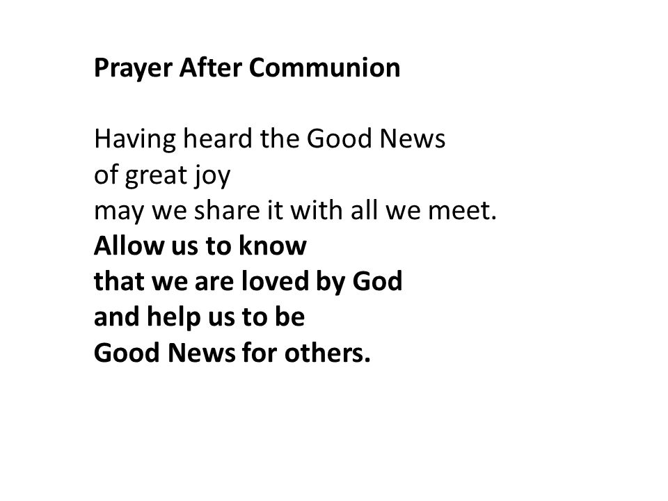 Prayer After Communion