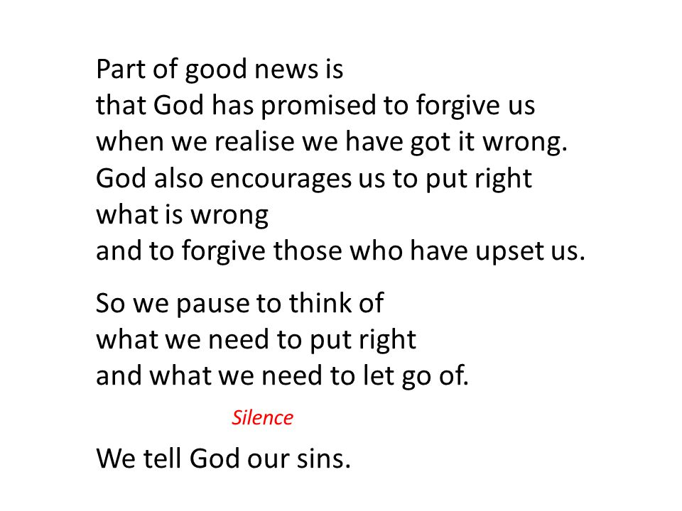 that God has promised to forgive us