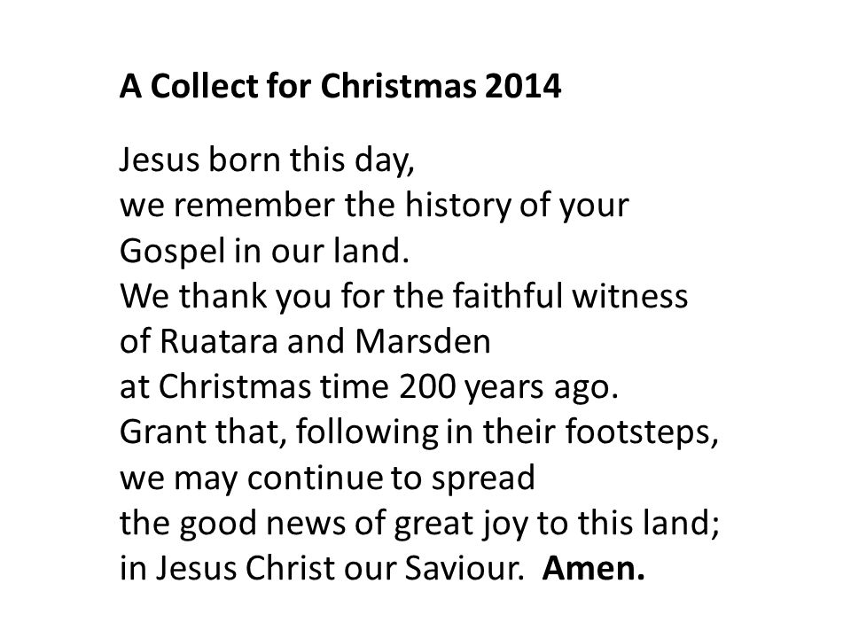 A Collect for Christmas 2014