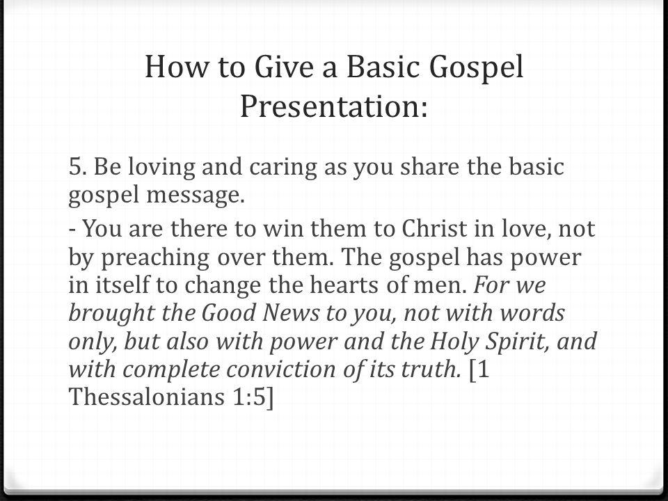 talk 3  how to give a basic gospel presentation