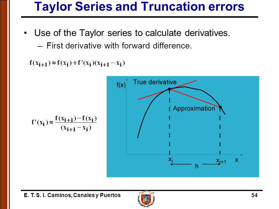 Taylor Series and Truncation errors