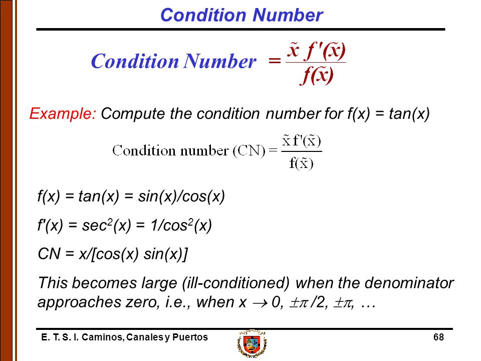 Condition Number Condition Number