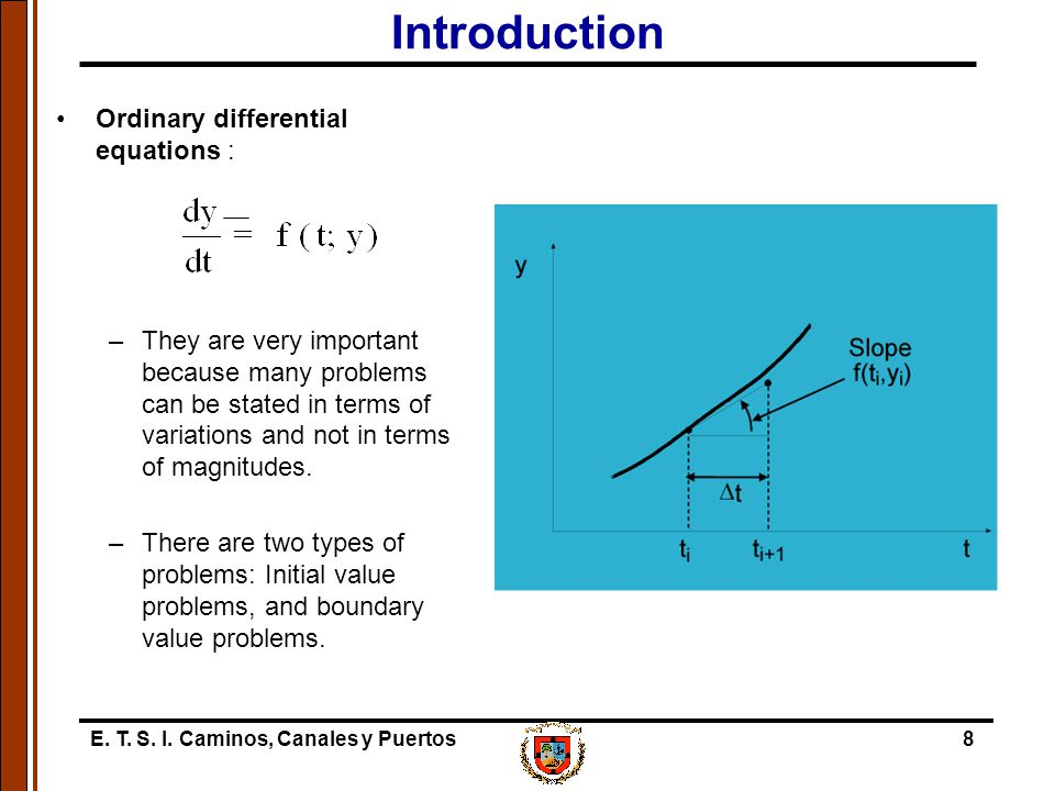 Introduction Ordinary differential equations :
