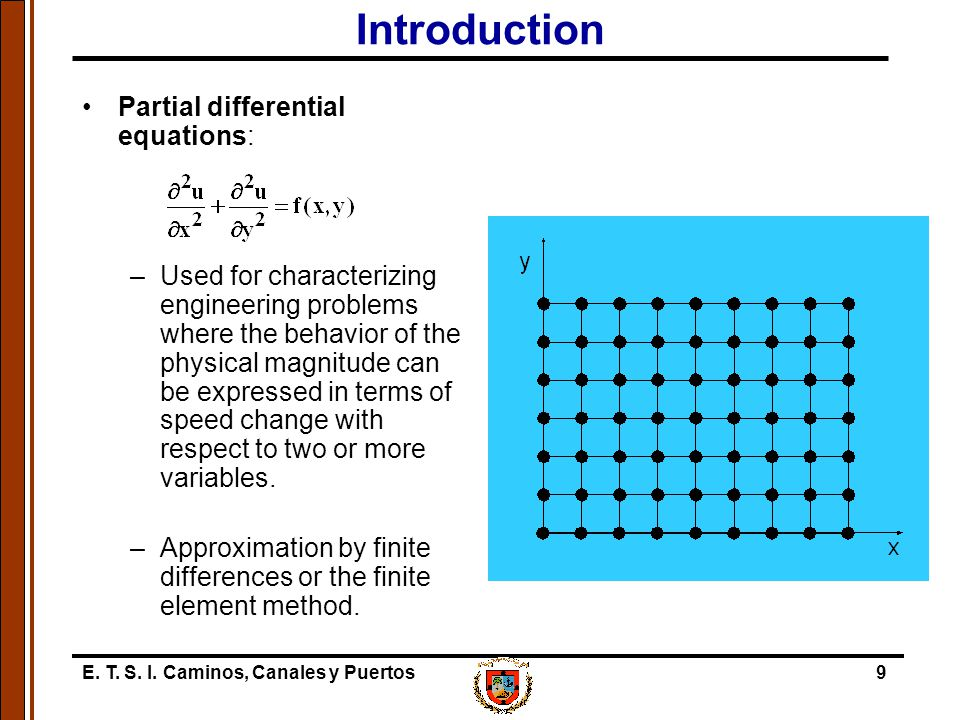 Introduction Partial differential equations: