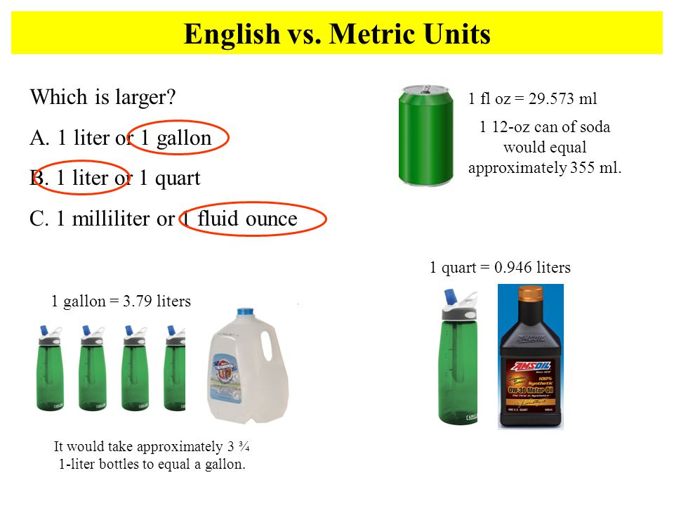 English vs. Metric Units