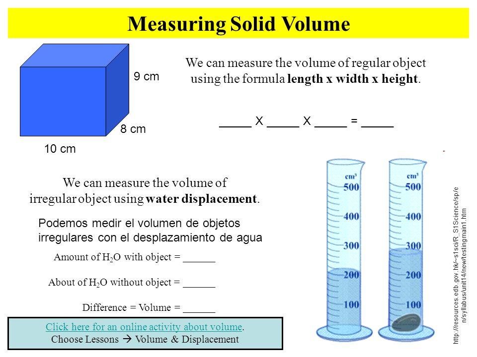 Measuring Solid Volume