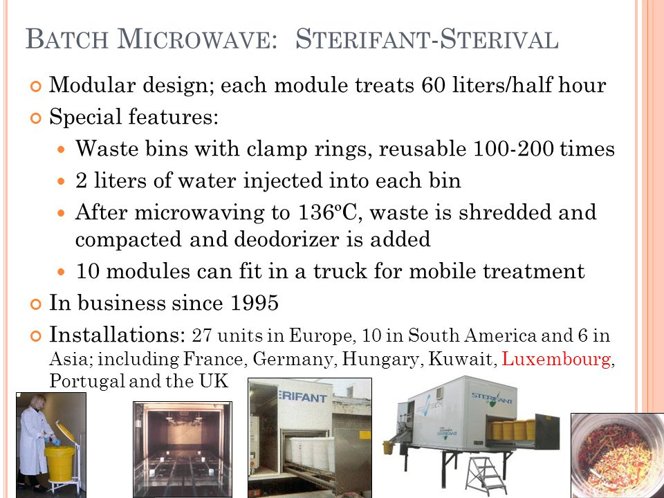 Batch Microwave Sterifant Sterival