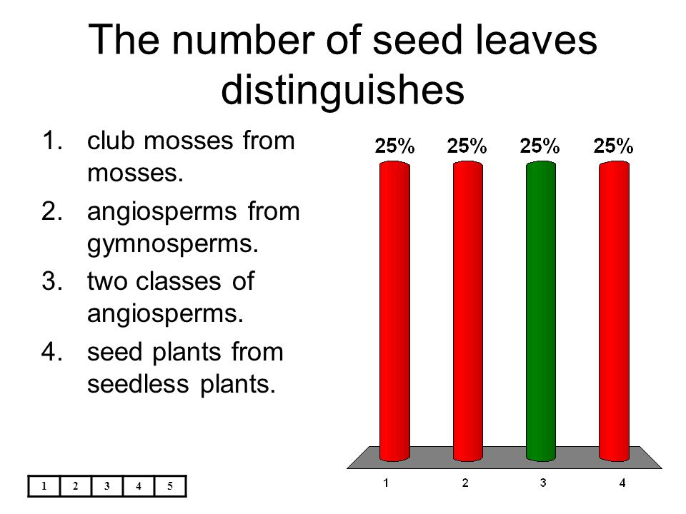 The number of seed leaves distinguishes