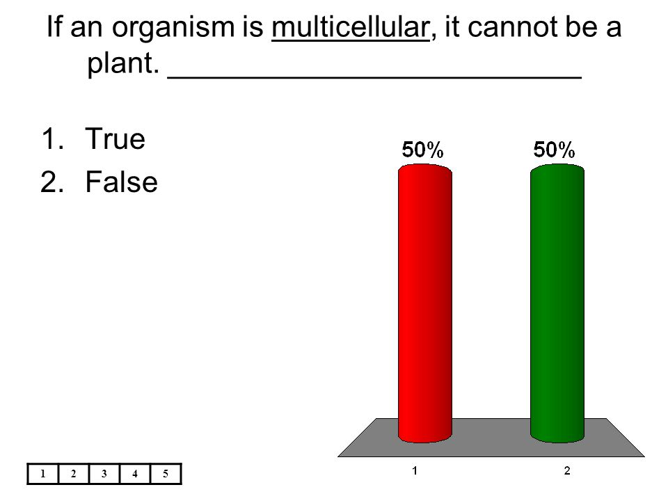 If an organism is multicellular, it cannot be a plant