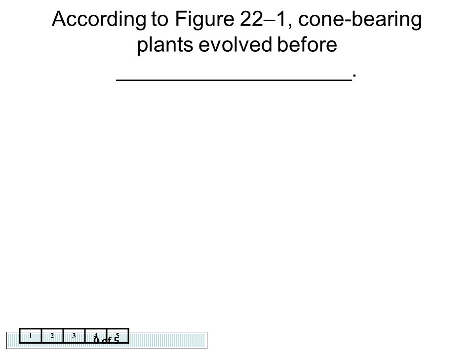 According to Figure 22–1, cone-bearing plants evolved before ____________________.