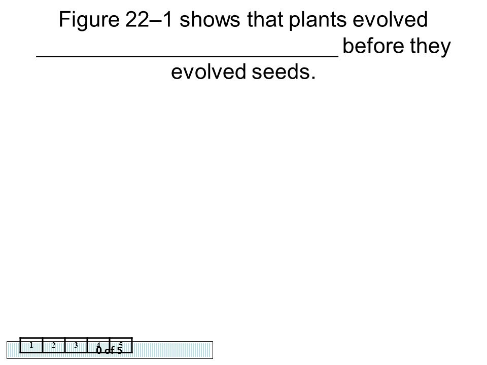 Figure 22–1 shows that plants evolved _________________________ before they evolved seeds.