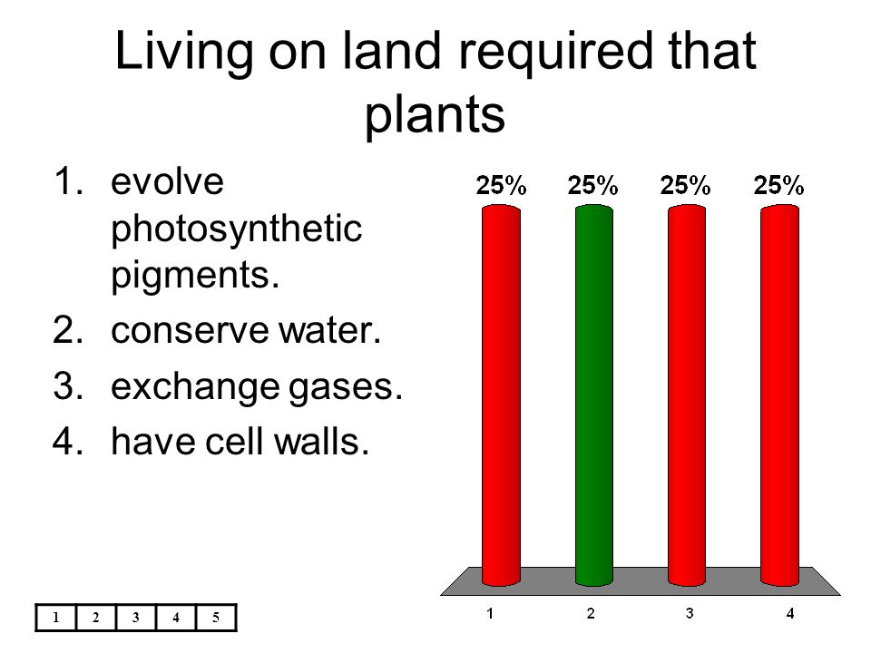 Living on land required that plants