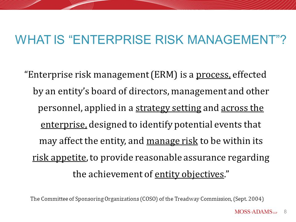 essay on enterprise risk management Enterprise risk management cera m spallone law/531 december 10, 2012 mike kelley enterprise risk management all businesses confront risk and evaluate the.
