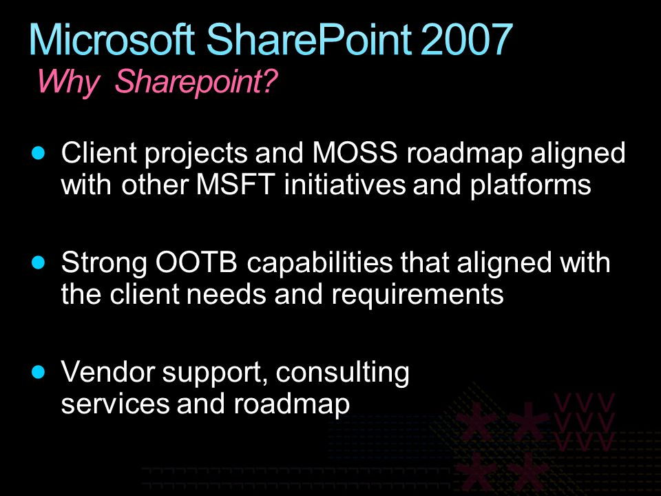 Microsoft SharePoint 2007 Why Sharepoint