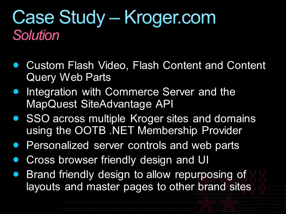 Case Study – Kroger.com Solution