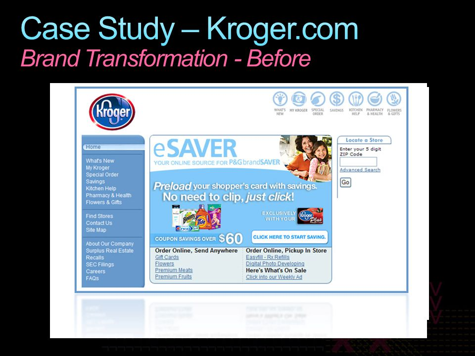 Case Study – Kroger.com Brand Transformation - Before