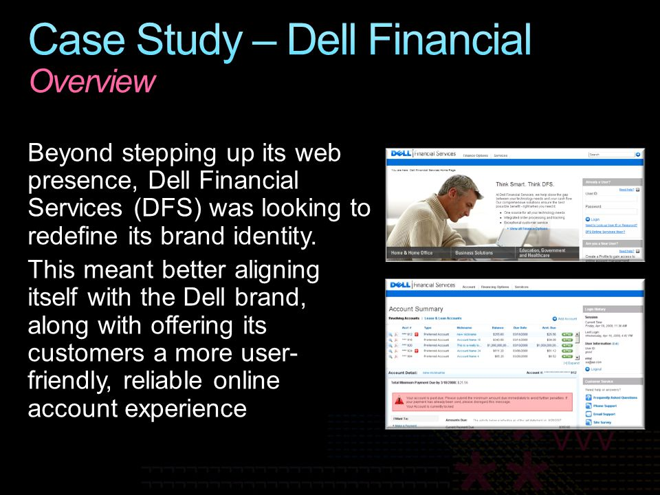 Case Study – Dell Financial Overview