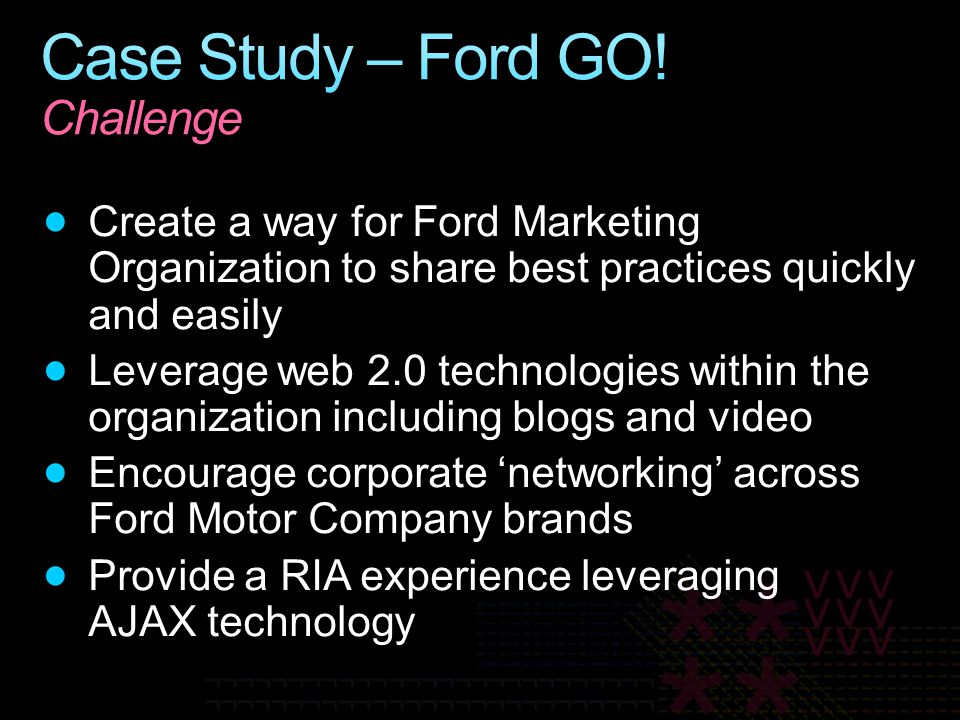 Case Study – Ford GO! Challenge