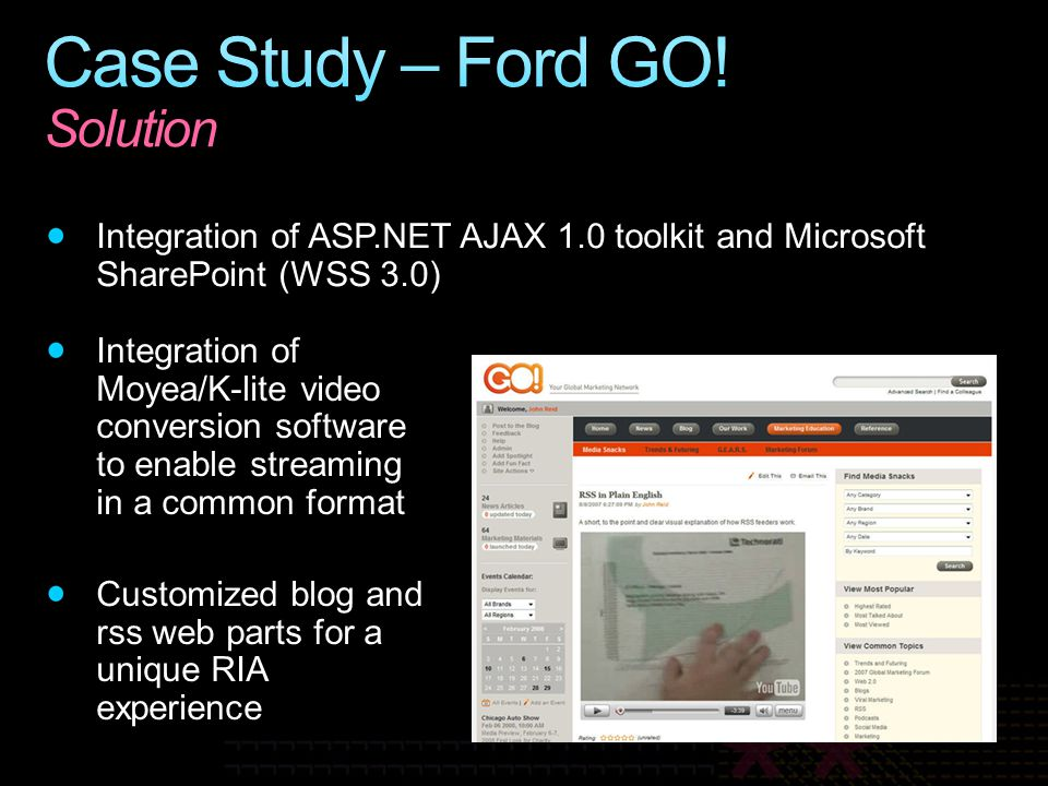 Case Study – Ford GO! Solution