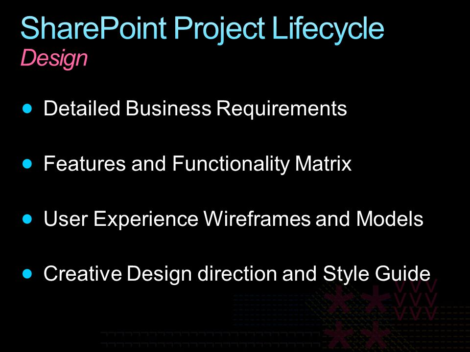 SharePoint Project Lifecycle Design