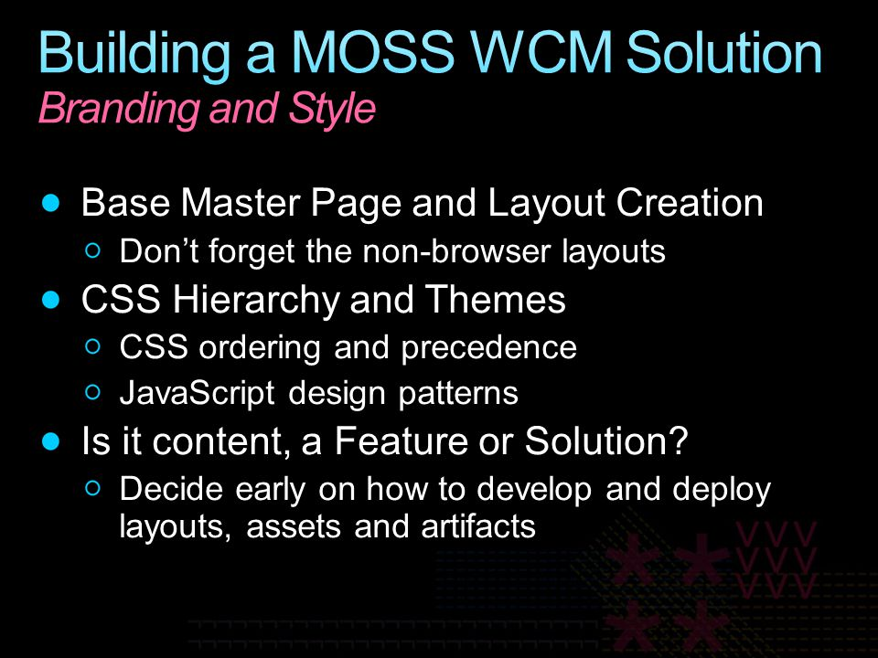 Building a MOSS WCM Solution Branding and Style