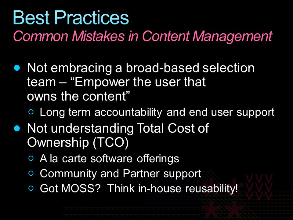 Best Practices Common Mistakes in Content Management