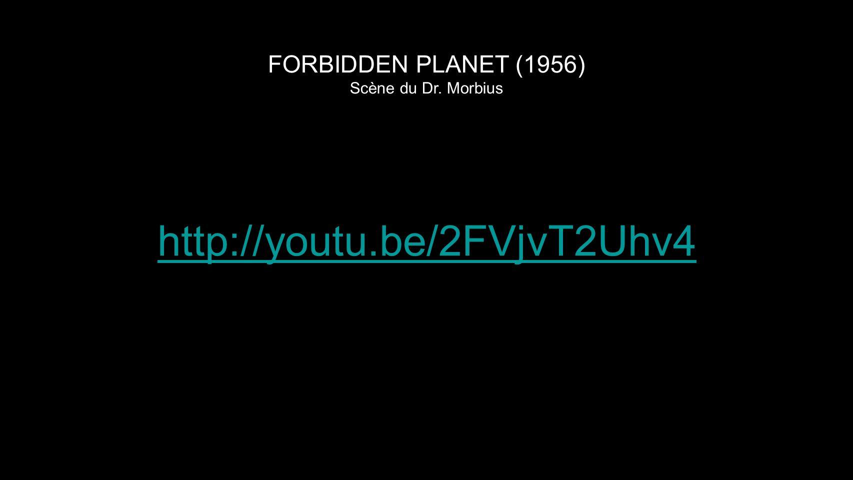 FORBIDDEN PLANET (1956) Scène du Dr. Morbius