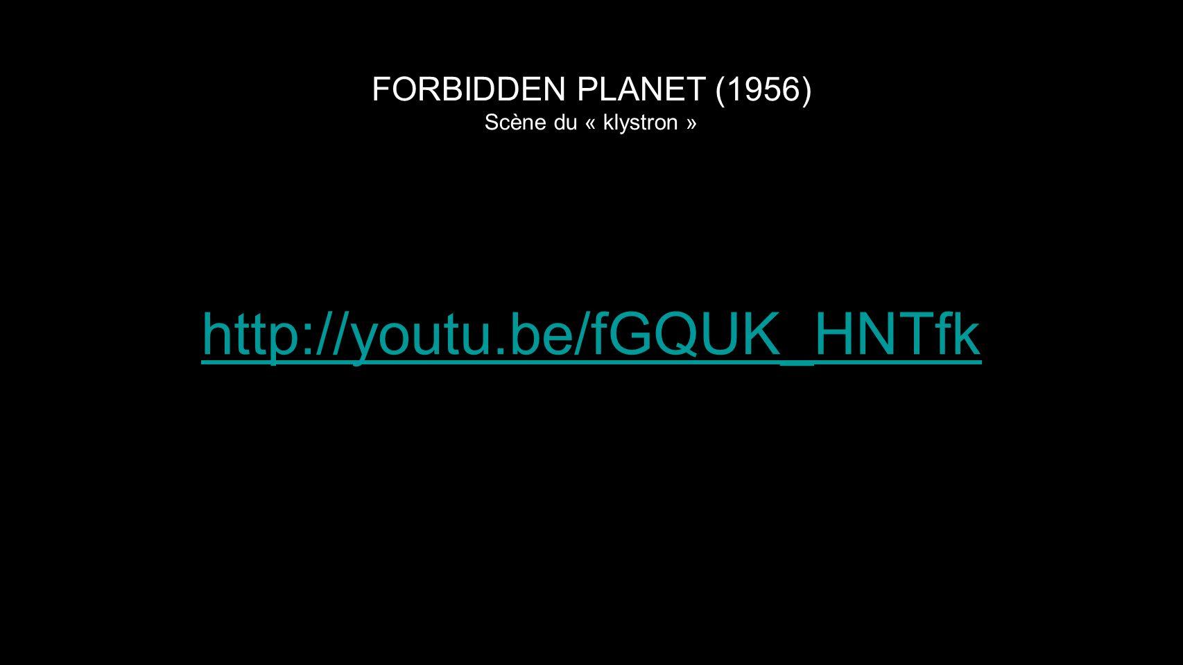 FORBIDDEN PLANET (1956) Scène du « klystron »