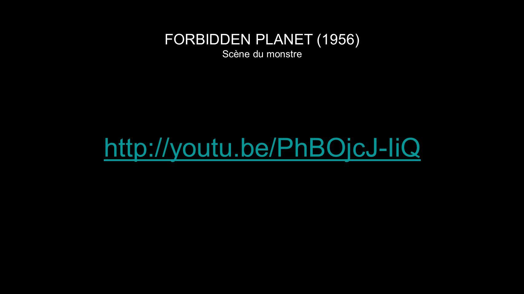 FORBIDDEN PLANET (1956) Scène du monstre