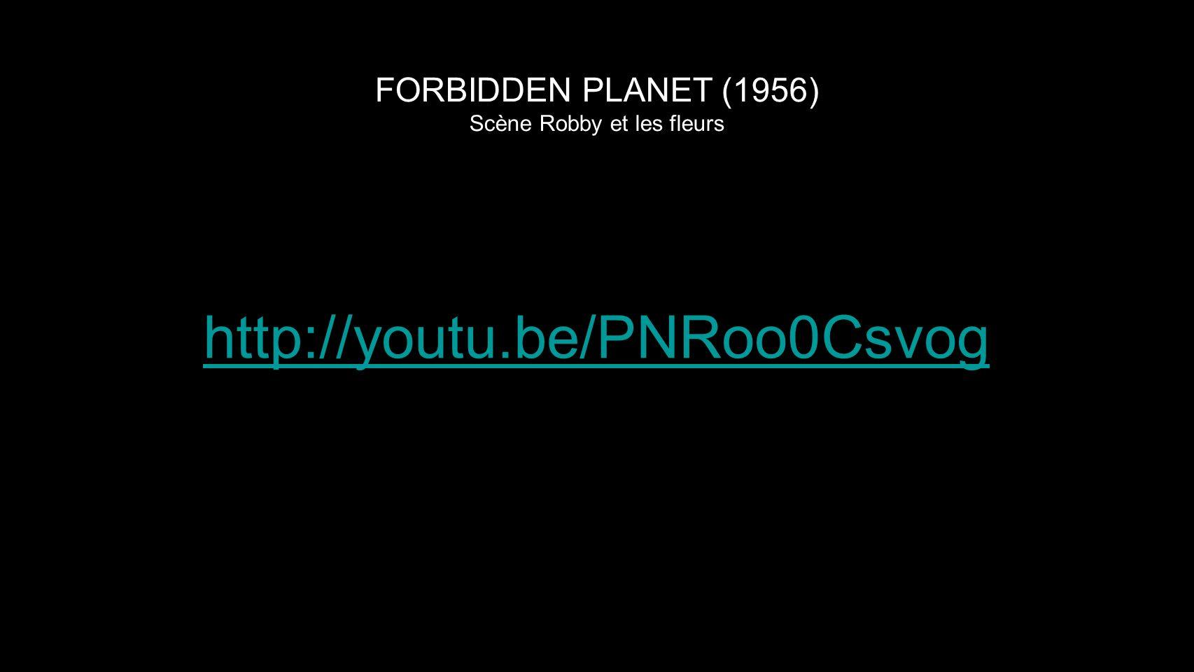 FORBIDDEN PLANET (1956) Scène Robby et les fleurs