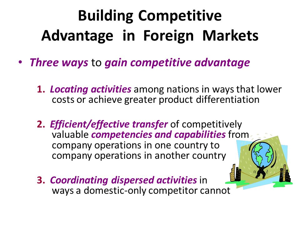 building competitive advantage through market based Competitive advantage achievement through based on the above it can summarize that innovative projects and competitive advantage of these organisations are.