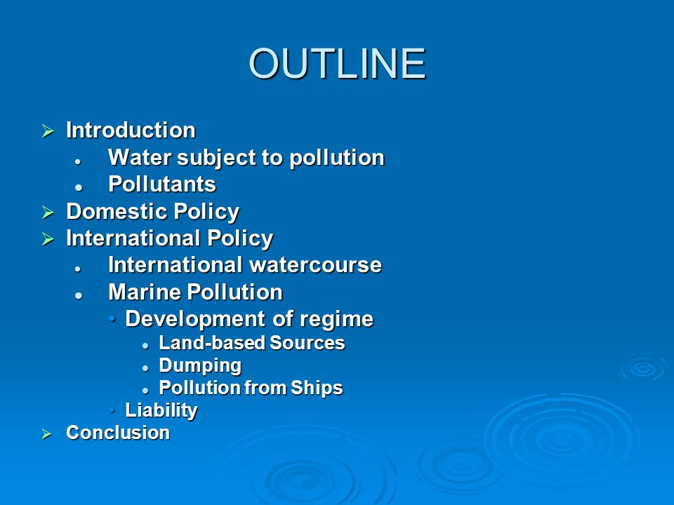 Water pollution: an introduction
