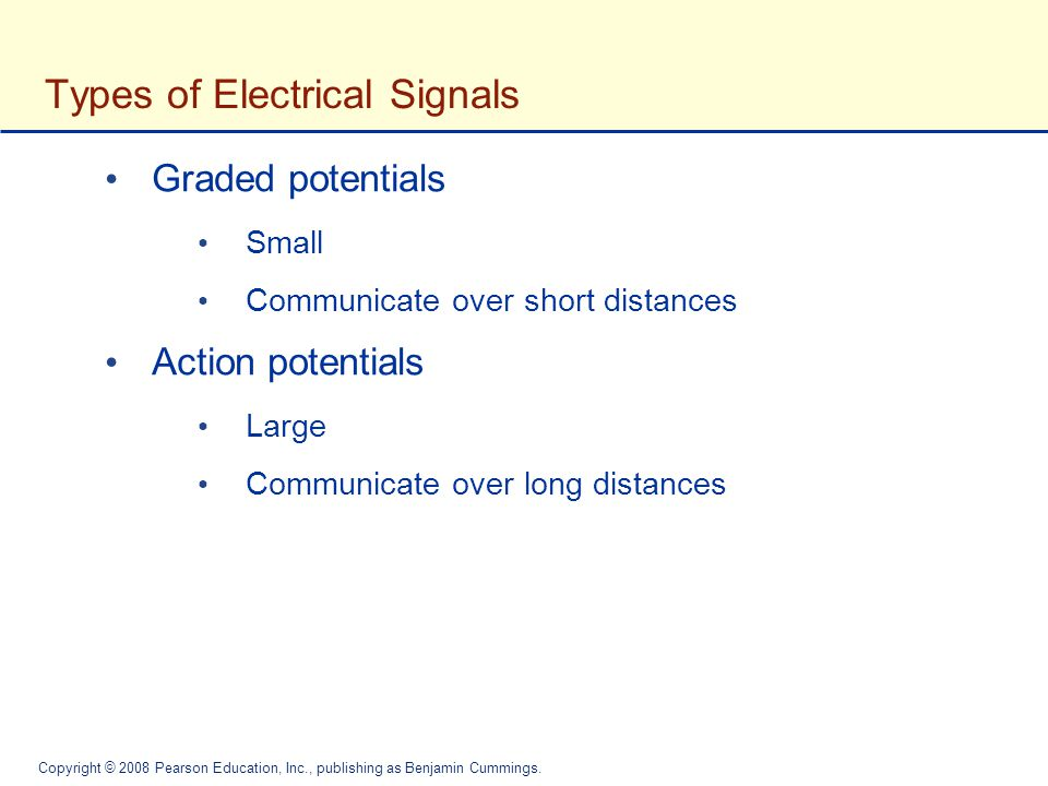 Types of Electrical Signals