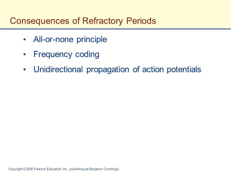 Consequences of Refractory Periods