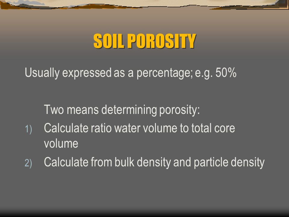 Physical properties of soil ppt video online download for Soil volume calculator